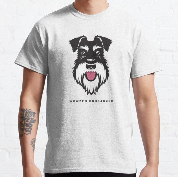 Wowzer Schnauzer Silver & Black face Classic T-Shirt
