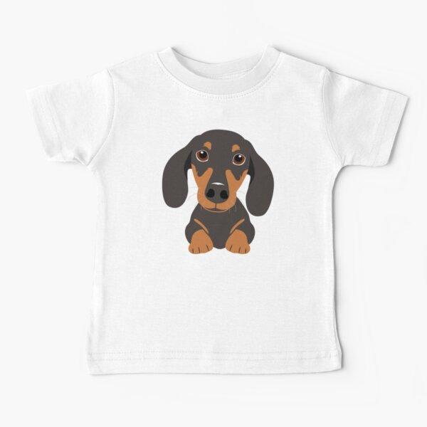 Lindo perro salchicha Dachshund Camiseta para bebés