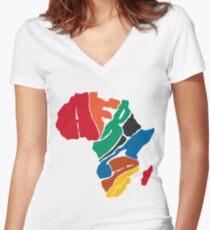 African - Africa T-Shirt & Hoody Women's Fitted V-Neck T-Shirt
