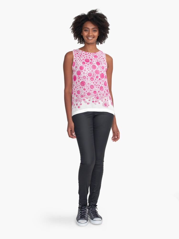 Alternate view of Cluster Bow Bubbles Sleeveless Top