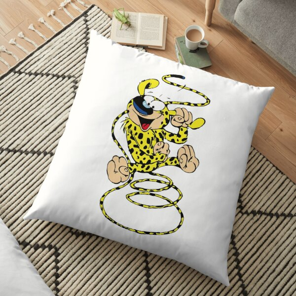 Marsupilami spring with ear in hand Floor Pillow