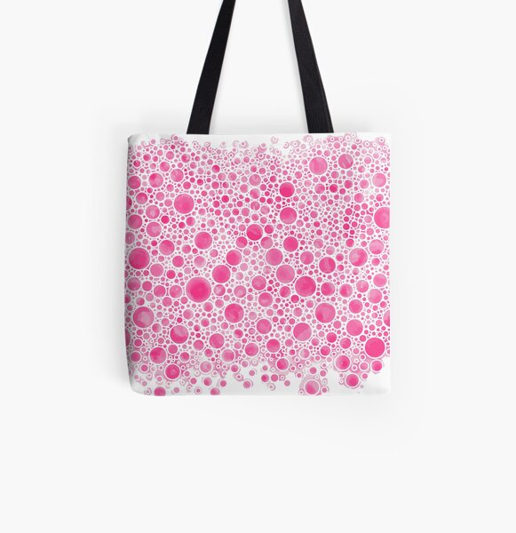 Cluster Bow Bubbles All Over Print Tote Bag