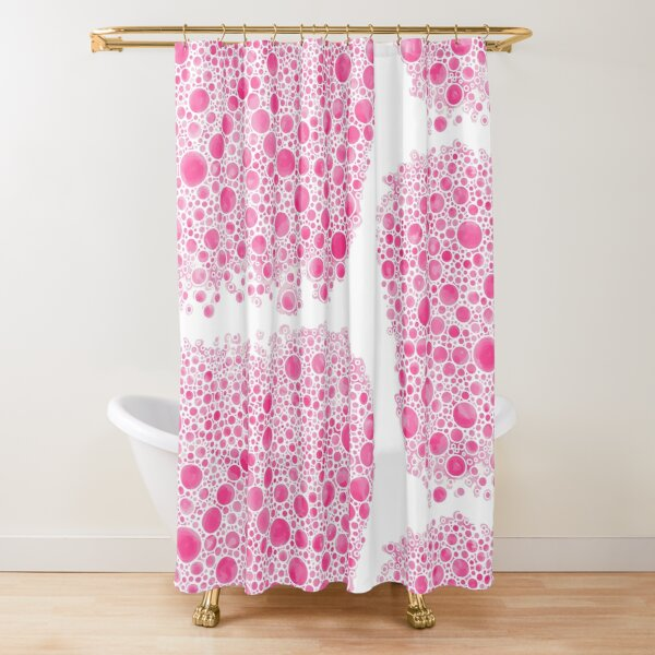 Cluster Bow Bubbles Shower Curtain