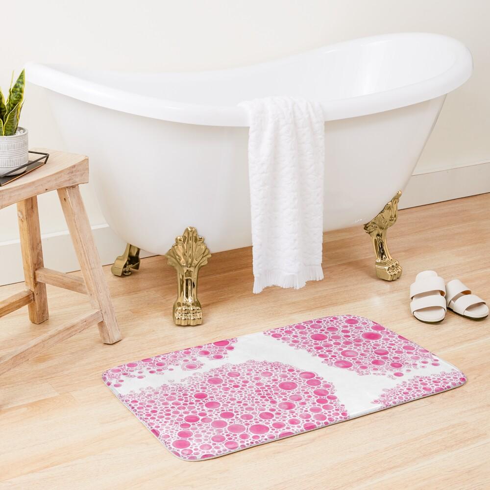 Cluster Bow Bubbles Bath Mat