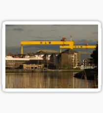 Harland and Wolff cranes from the River Lagan Sticker