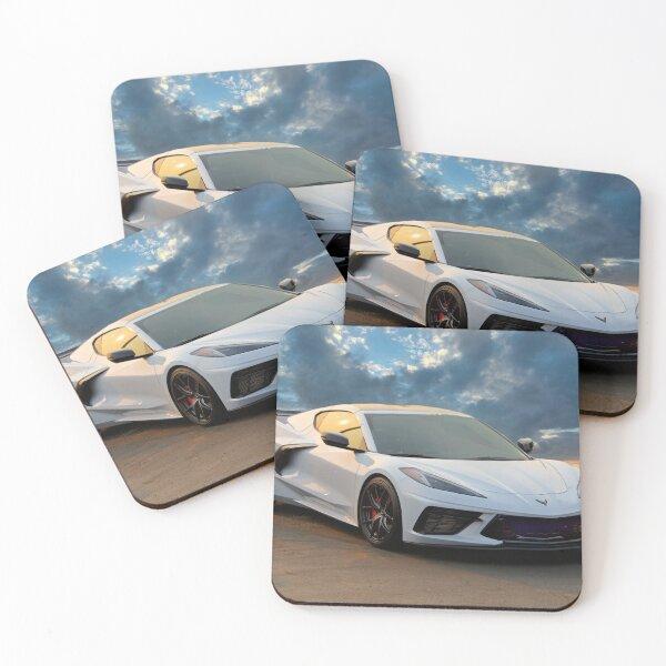 2020 Chevrolet C8 Corvette 'Mid-Engine' Coasters (Set of 4)