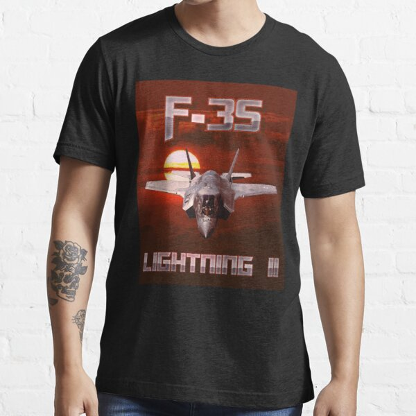 F-35 Lightning II Stealth Fighter Pilot  Essential T-Shirt