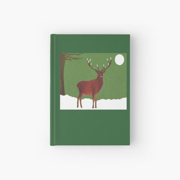 The winter stag Hardcover Journal