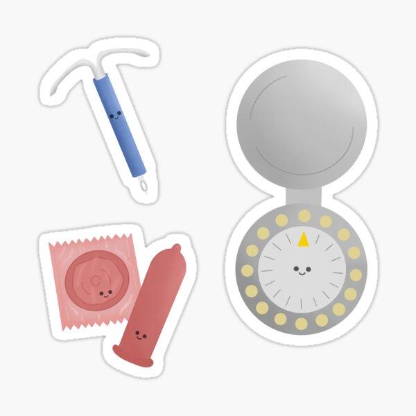 Lindo paquete anticonceptivo Pegatina