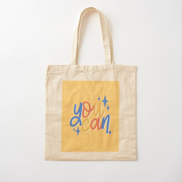 You Can Quote Typography Design Cotton Tote Bag