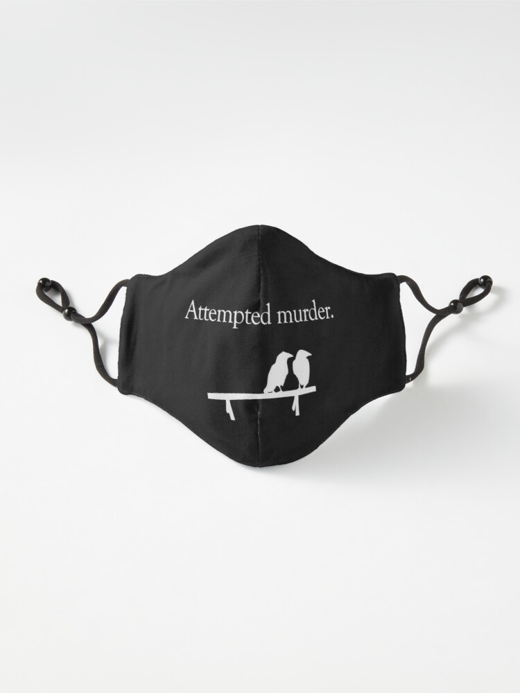 Alternate view of Attempted Murder (White design) Mask