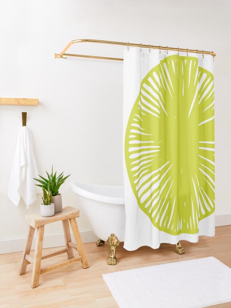Alternate view of Strange Fruit Shower Curtain