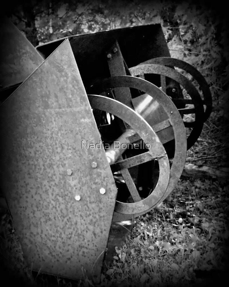Farm Machinery   BNW   Black and White   Agricultural by Nadia Bonello