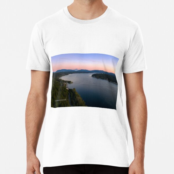 Sunset Over Lake Sammamish 002 Premium T-Shirt