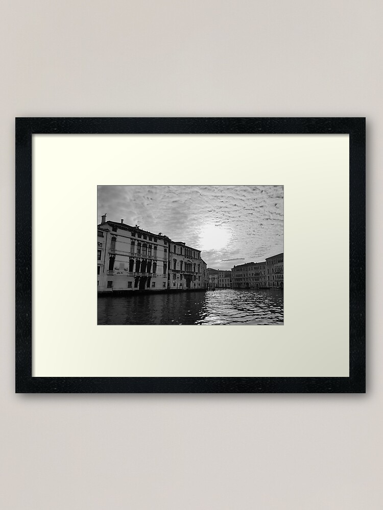 Alternate view of Atmospheric Grand Canal, Venice Framed Art Print