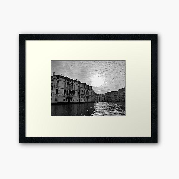 Atmospheric Grand Canal, Venice Framed Art Print