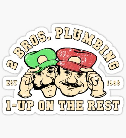 2 Bros Plumbing Sticker