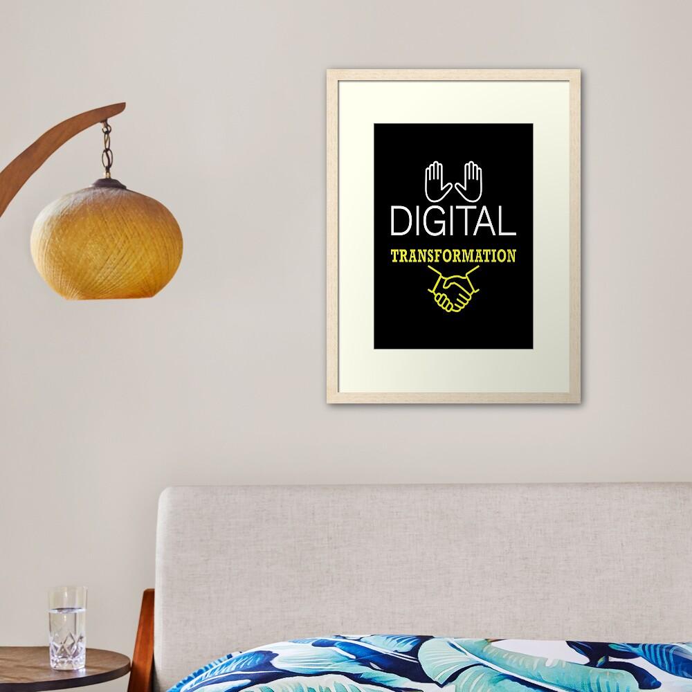Digital Transformation. Framed Art Print