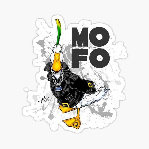 "MOE - The Punk Duck ""MOFO"" Sticker"