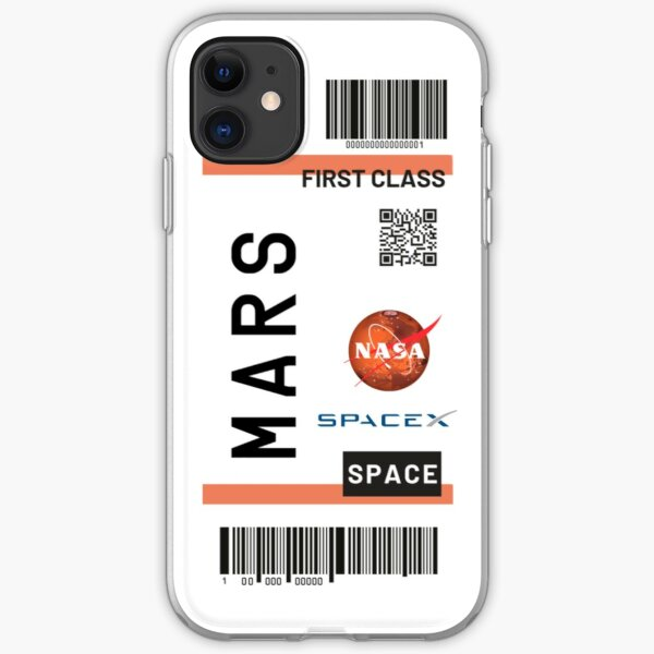 Mars Ticket Nasa Spacex iPhone Flexible Hülle
