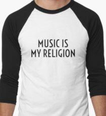 Music Party Bass Techno Men's Baseball ¾ T-Shirt