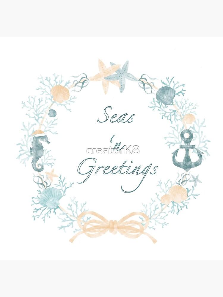Seas 'n Greetings Coastal Christmas Wreath by creatorK8