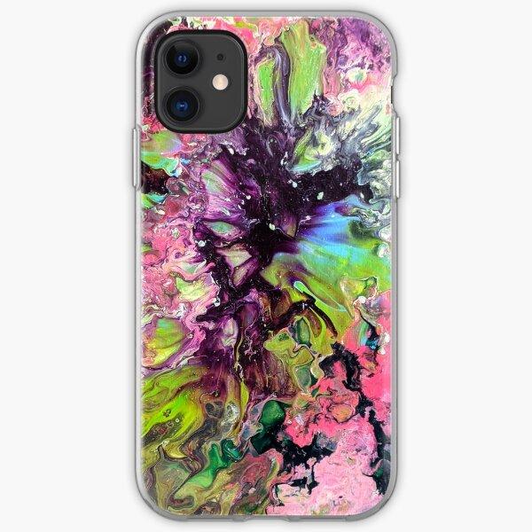 Unique Mulitcolor Vibrant Abstract Fluid Acrylic Art iPhone Soft Case