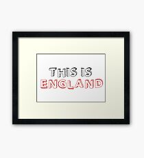 Football Soccer Fan England Framed Print