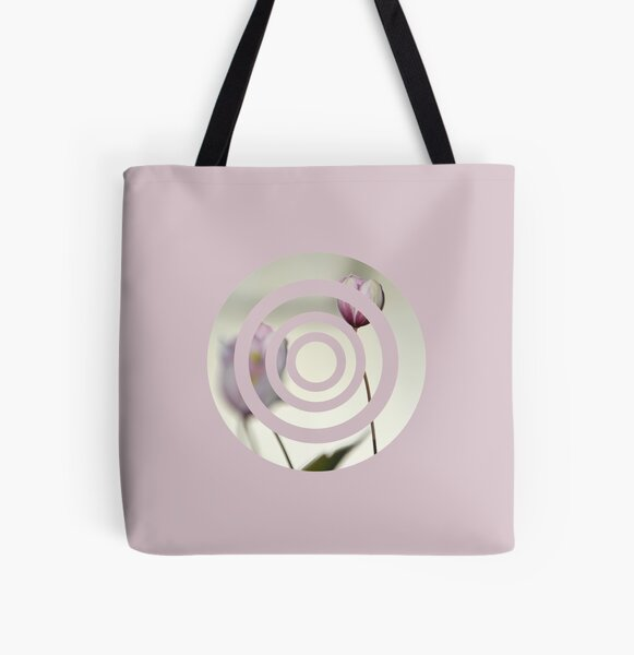 Elegant geometric - Vintage wild garden flower a quirky abstract pattern All Over Print Tote Bag
