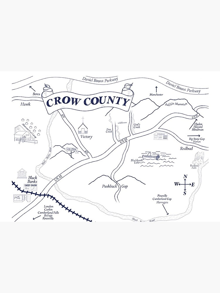 Crow County Map by Lonrism