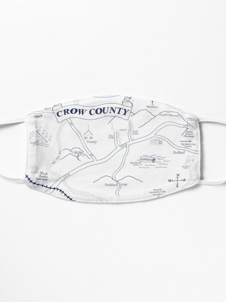 Alternate view of Crow County Map Mask