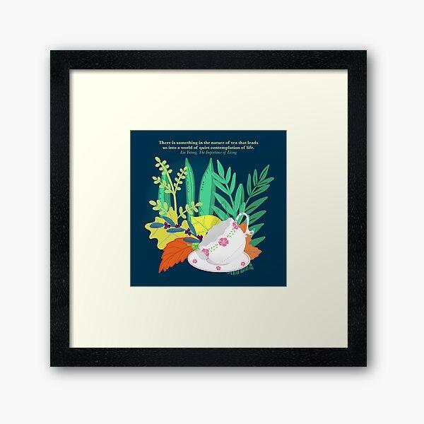 Tea Nature Contemplation Framed Art Print