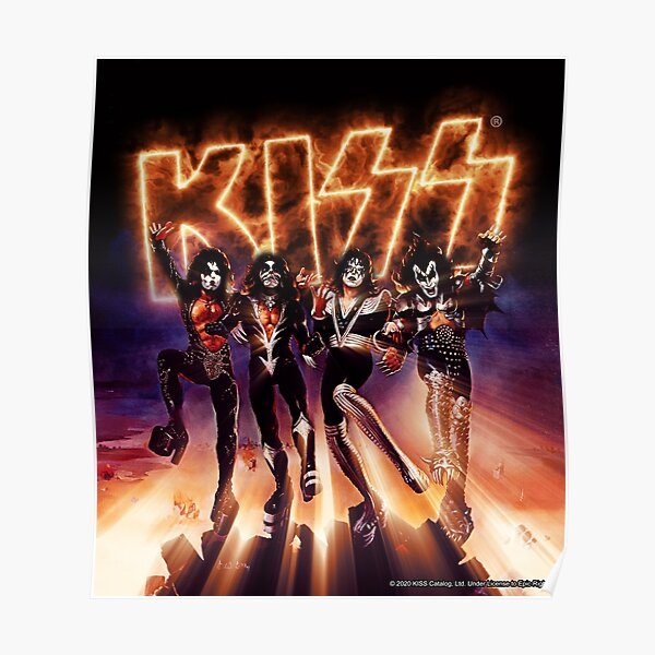 KISS ® the Band - Destroyer Fire Logo Poster