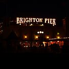 Brighton Pier At Night by Vicki Spindler (VHS Photography)