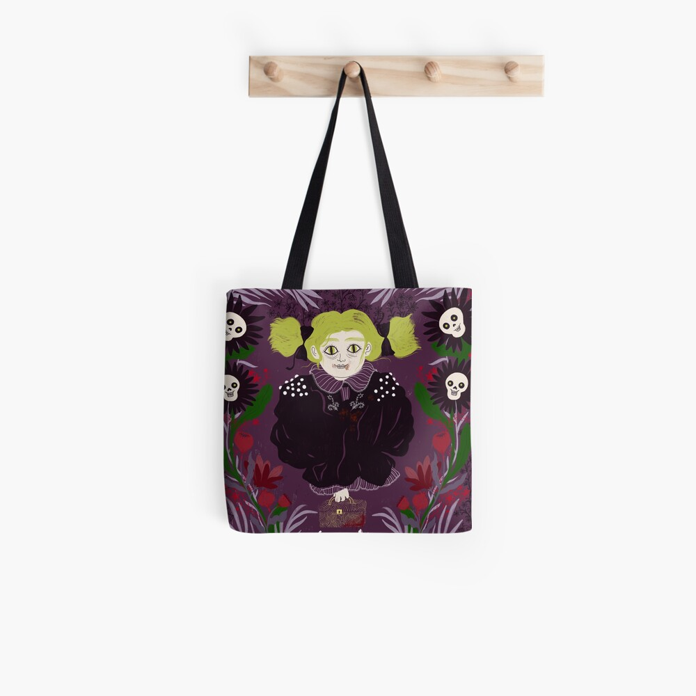 Treat or Trick Halloween Vampire Tote Bag
