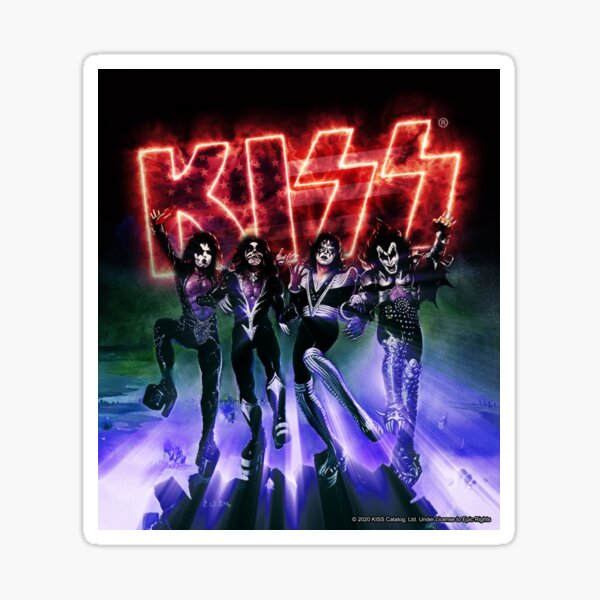 KISS ® das Band - Destroyer USA Edition Logo Sticker