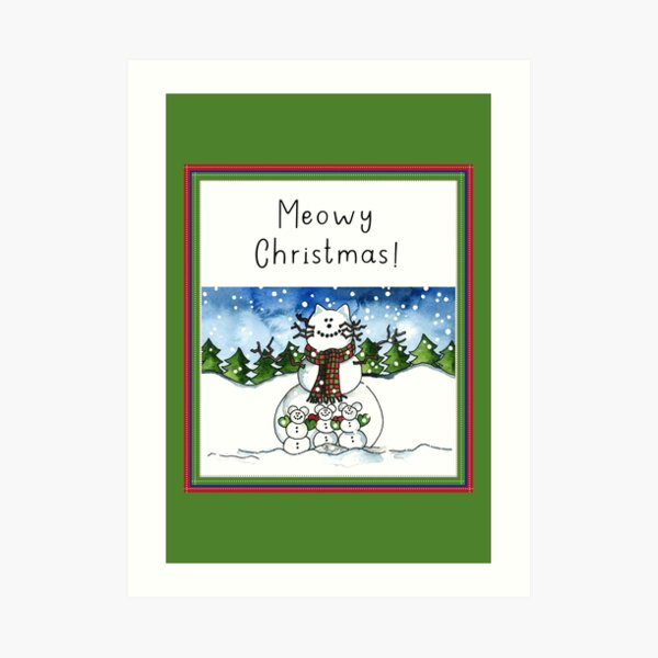 Meowy Christmas! Art Print