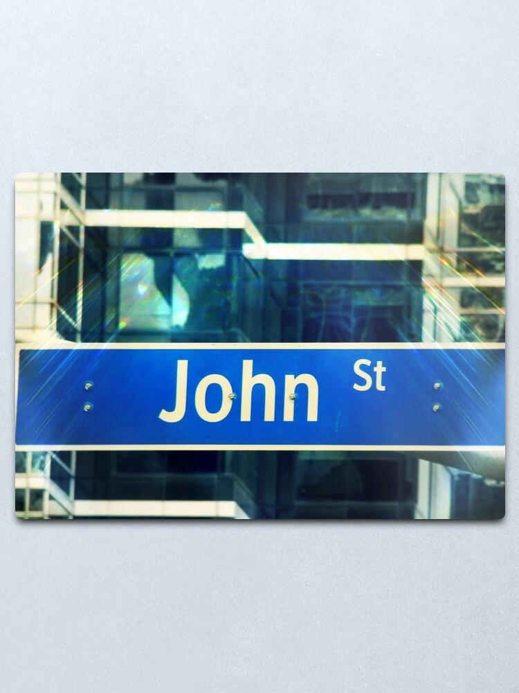 Alternate view of John, John mask, John sticker, John socks, John magnet, John mug  Metal Print