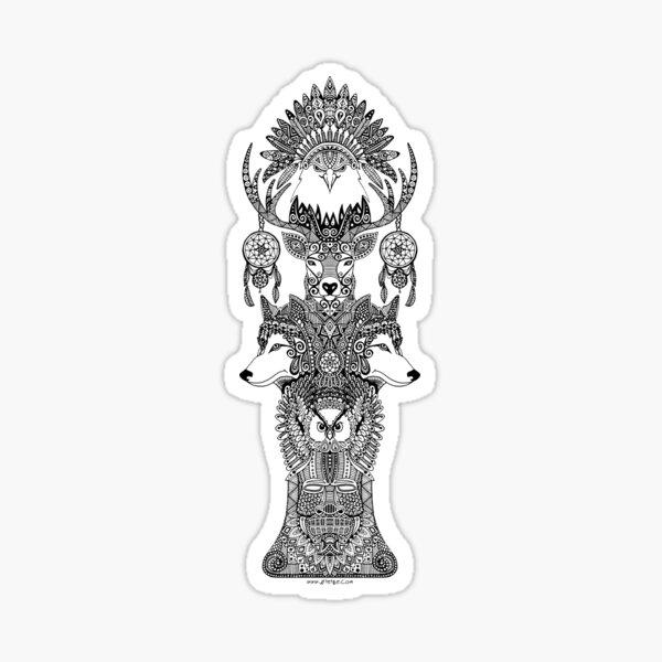 Totem indien Sticker