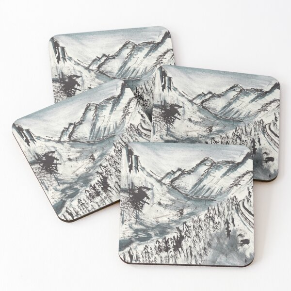 Deep in the Mountains Coasters (Set of 4)