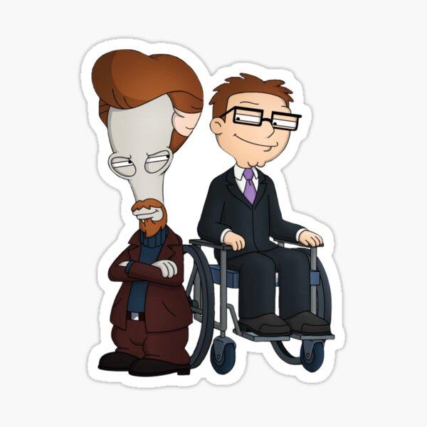 Wheels and the Leg Man! Papa américain Roger et Steve Sticker