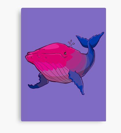 Bisexuwhale - no text Canvas Print