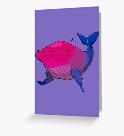 Bisexuwhale - no text Greeting Card