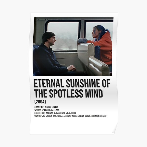 ETERNAL SUNSHINE OF THE SPOTLESS MIND train POSTER Poster