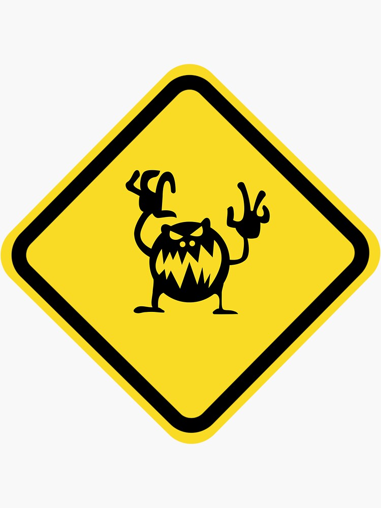 Scary road sign by ds-4