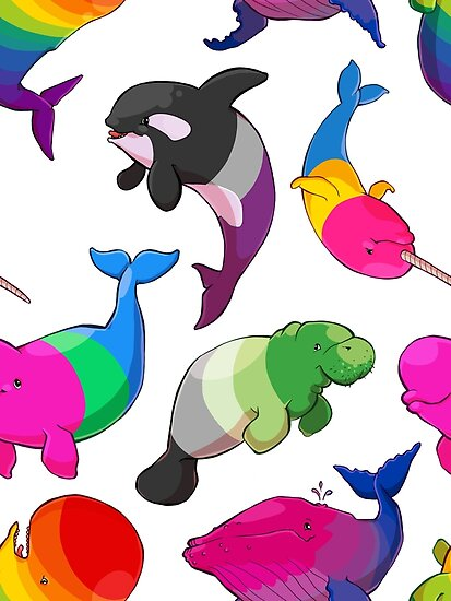 «Patrón de Ballenas de Sexualidad (y Aromanato)» de Kirstendraws