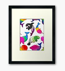 Sexuality Whales (And Aromanatee) Pattern Framed Print