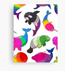 Sexuality Whales (And Aromanatee) Pattern Canvas Print