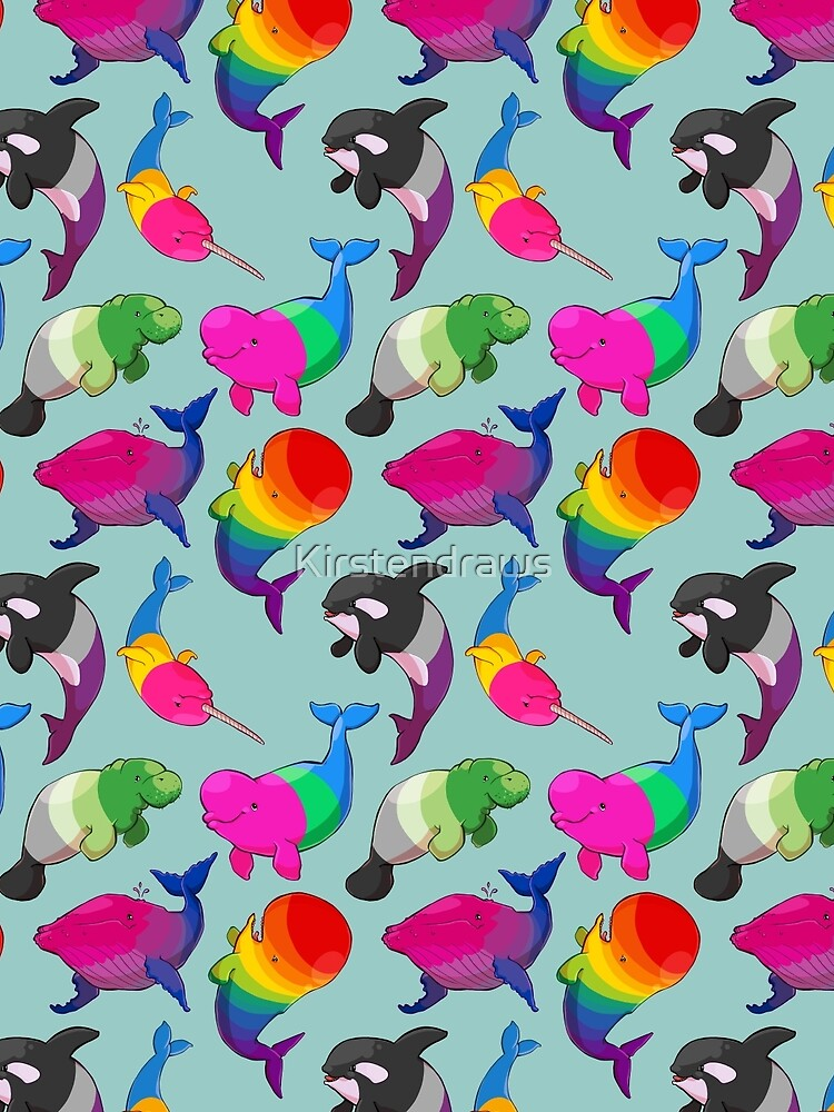 Sexuality Whales (And Aromanatee) Pattern by Kirstendraws