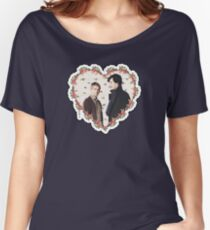 HEARTED JOHNLOCK Women's Relaxed Fit T-Shirt